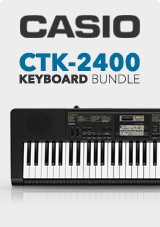 Casio CTK-2400 Portable Keyboard X Frame Bundle