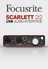 Focusrite Scarlett 2i2 Interface Audio USB