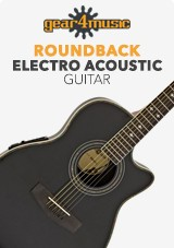 Roundback Electro Acoustic Guitar by Gear4music, Black