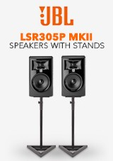 JBL LSR305P MKII with Stands, Pair