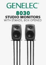 Genelec 8030 Studio Monitor with stands, Box Opened